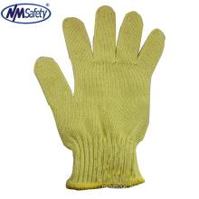 NMSAFETY 7 gauge aramid fibers work gloves/work glove en388 4343