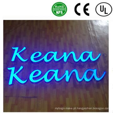 Alta qualidade OEM LED frente sinal de carta de canal iluminado