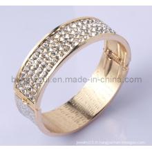 Fashion Bangle Design Alloy with Crystal