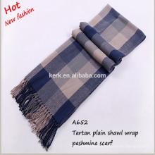 Unisex große graue und lila schlichte fashinable Pashmina Schals und Schal Schal mit Quaste