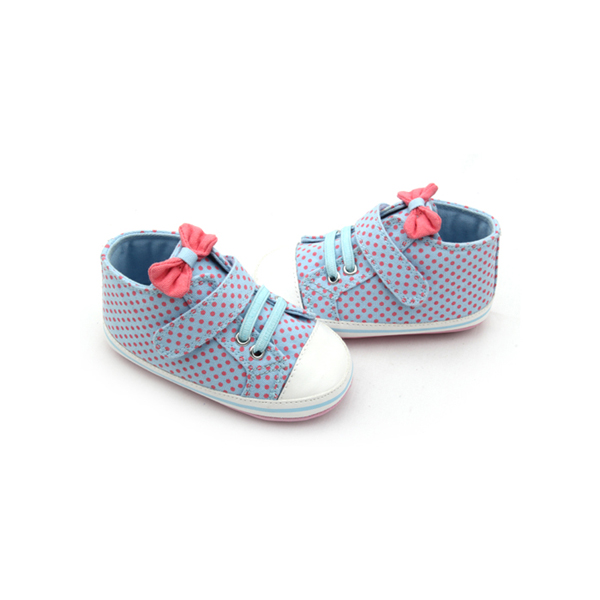 New Style Bow-Knot Wave Point Baby Girls Sports Shoes