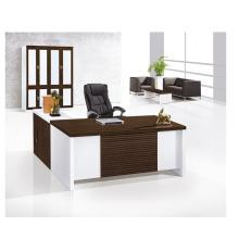 Современный дизайн белый современный письменный стол с файловым шкафом