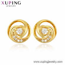 96219 Xuping jewelry latest design fashion heart shape women stud earring