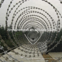 galvanized concertina razor wire BTO22 barb razor wire sharp concertina wire