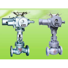 cast steel motorized valve and valve globe