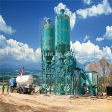 Skip Hoist Type HZS50 Simple Concrete Mixing Plant 50m3/h