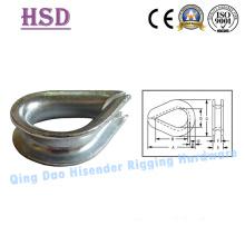 E. Galvanized DIN6899b Thimble, Marine Type Thimble,