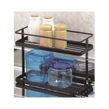 Metal Two Shelves Spice Rack Organizer