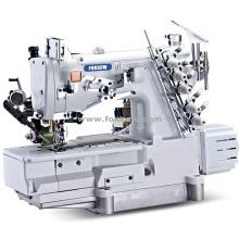Máquina de costura de bloqueio de linha automática com aparafusador traseiro