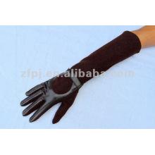 2013 guantes de cuero suave mujer con cuero genuino