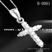 925 Sterling Silver Cross Pendants (B-0061)