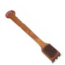 BBQ grill cleaning brush with scrape