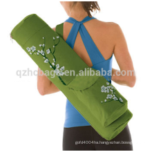 2016 cotton yoga foam roller carrying bag