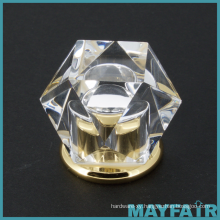 Top Sale Fashion Crystal Glass Bathroom Hardware Knob