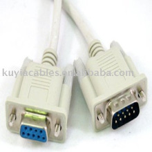 DB9 Serial Male Female 9Pin RS232 Extension Cable