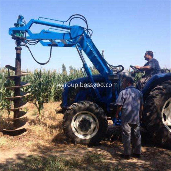 Tractor pile driver11