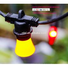 15M impermeável 15 soquetes de iluminação Corda Grau Comercial E26 E27 Férias LED String Light SLT-192