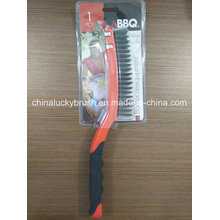 Double Colour Plastic Handle Steel Wire Barbecue Brush (YY-502)