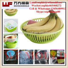 OEM Custom rattan fruit basket mould/Custom design plastic injection rattan fruit basket mold