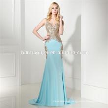High Quality Cheap Hot Sell Light Blue Evening Dress 2017