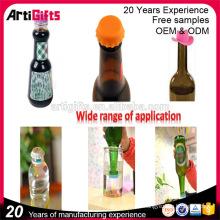 Nouveaux produits de promotion différents types de capsules de bouteilles d'eau en silicone de couleurs