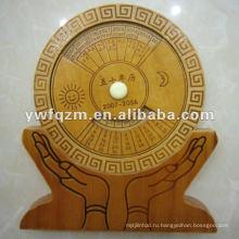 новый дизайн вечный календарь древесины для подарка промотирования