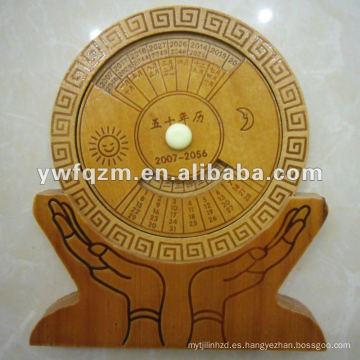 nuevo calendario perpetuo de madera del diseño para el regalo de la promoción