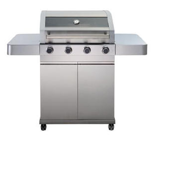 4 Burner Full Stainless Steel Glass Window BBQ