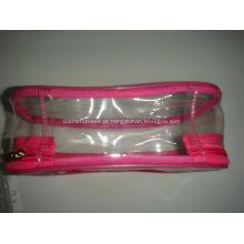 Sacos cosméticos promocionais para PVC Zipper
