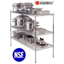 Porte-grille de cuisine professionnelle en acier inoxydable