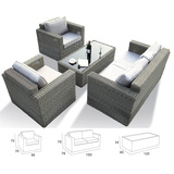 PE Ratten 1pc Table 4 seater sofa Living Room Modern egyptian style furniture MCD1005