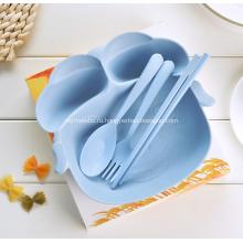 Детская посуда из 4-х частей Piggy Shape из бамбукового волокна