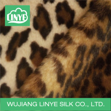 leopard print long plush fur fabric, auto upholstery fabric, faux fur rug fabric