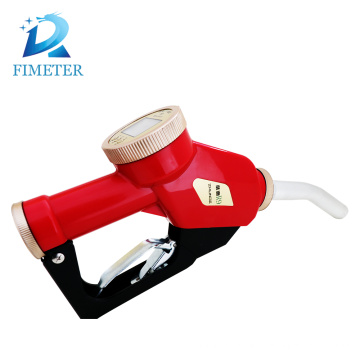 Methanol fuel nozzle, fuel filling nozzle, oil meter gun