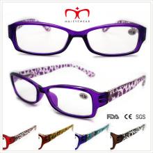 Unisex, plástico, leitura, óculos, leopardo, padrão, (wrp508330)