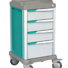 Hospital Furniture ABS Plastic Anesthesia Medicine Medical cart Emergency trolley