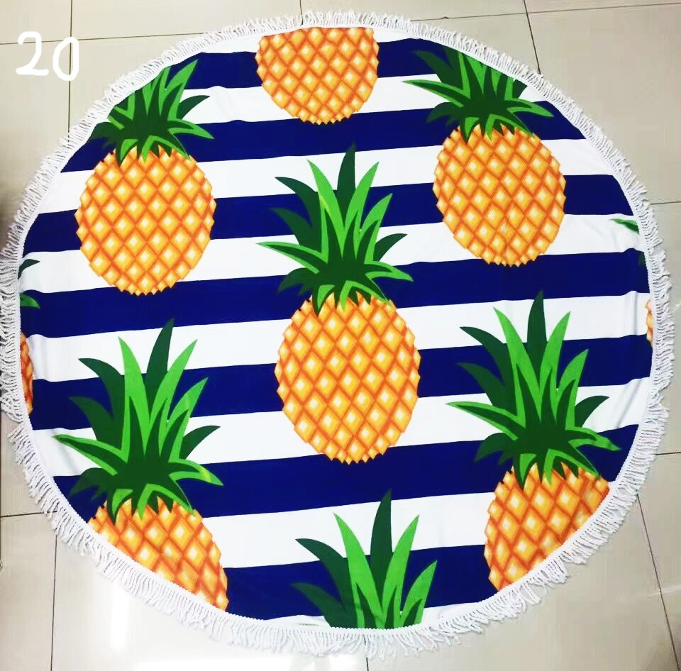 Fashion Printed Pineapple Microfiber Beach Towel