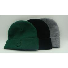 Bordado letra P sombrero de punto caliente Jacquard Beanie Cap (ACEK0081)
