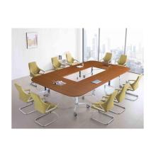 Precio barato y mesa de conferencia plegable de melamina de alta calidad