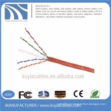 4 pares cable de la red del cable del lan UTP cat6 RJ45 de 305m
