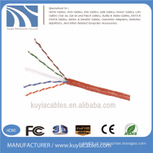 4 pares 305m cabo da rede do cabo do lan UTP cat6 RJ45