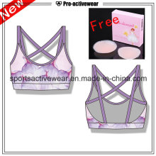 Free Silicone Pad High quality New Design Fashion Ladies Sport Bra