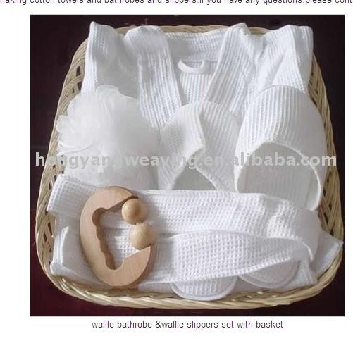 100%Fresh Cotton Towel&Bathrobe,Slipper  as Set