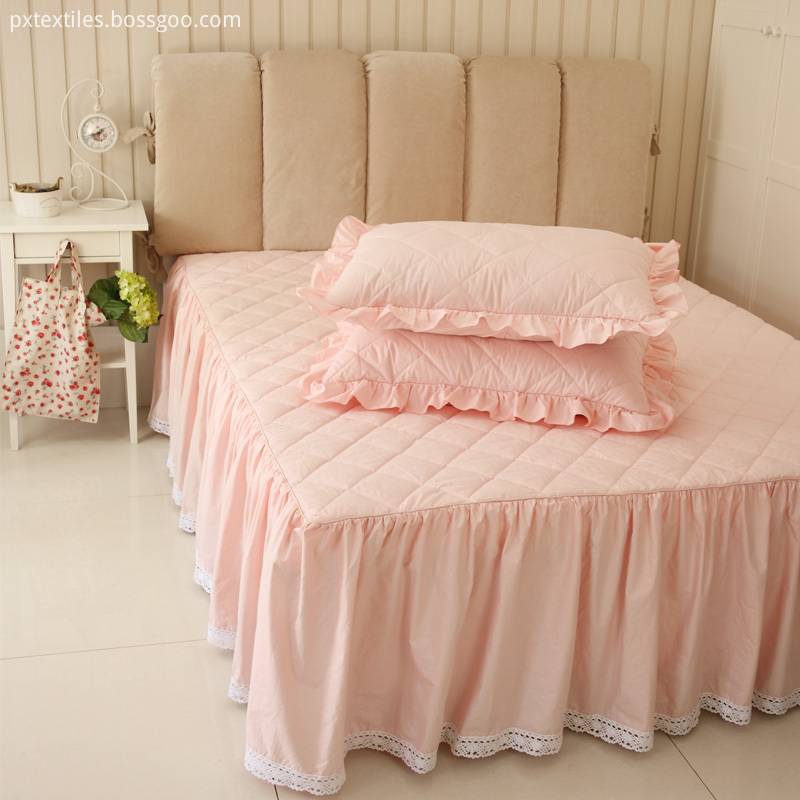 Navy Pink Bed Skirt