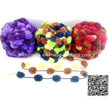 Tejer a mano POM POM Fancy Yarn Knit Crochet Mat bufanda