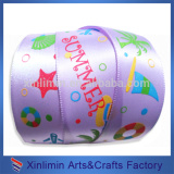 China factory sale directly craft printed logo sheer ribbon
