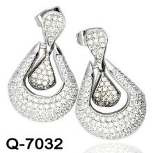 Новый дизайн 925 Серебряный моды серьги бижутерия (Q-7032.)