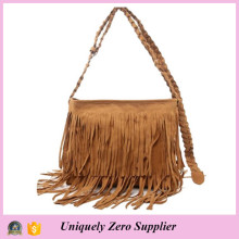 Fashion Women Tassel Shoulder Messenger Handbag (54076-1)