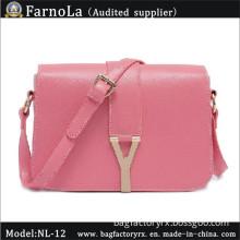 Cross Pattern Leather Girls Messenger Bag (NL-12)