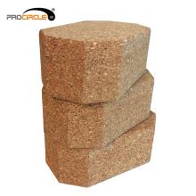 Bloque de yoga de corcho natural antideslizante de madera de color de alta calidad